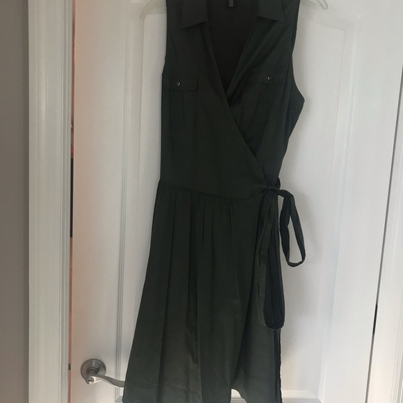 White House Black Market Dresses & Skirts - Ladies Olive Green wrap dress worn once